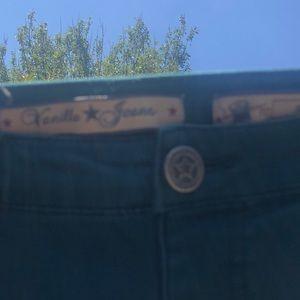 Vanilla Star Pants - Vanilla star jeans size 6 skinny fit teal color